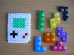 Gameboy y fichas de tetris Hama beads (Garumiru) Tags: gameboy tetris