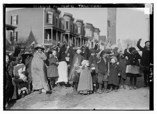 Scramble for pennies - Thanksgiving (LOC)
