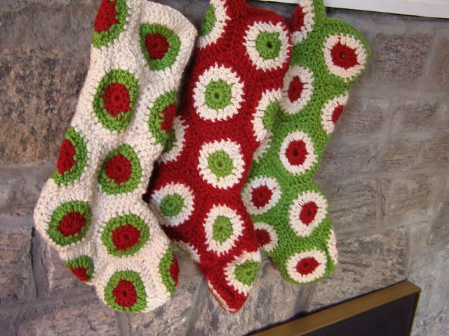 Ravelry Polka Dot Christmas Stocking Pattern By Priscilla Hewitt