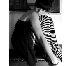 A Bout De SouFFle (A bout de Souffle Art) Tags: white black girl fashion dark glamour stripes bianco nero