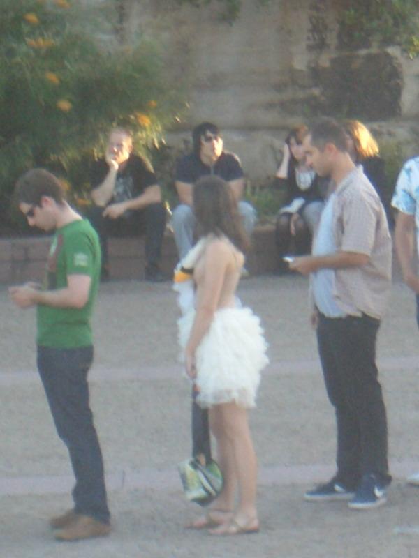 Swan dress at Bjork