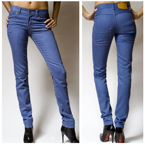 Colored Jeans blue and navy skinny fashion jeans
