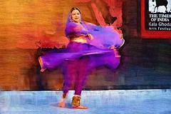 Kathak recital by Ms. Keka Sinha - The Times of India Kala Ghoda Arts Festival, Mumbai - India (Humayunn Niaz Ahmed Peerzaada) Tags: india model photographer amphitheatre recital actor maharashtra amphitheater mumbai kalaghoda kalaghodaartsfes