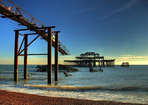 The Sorry Remains Of Brighton West Pier