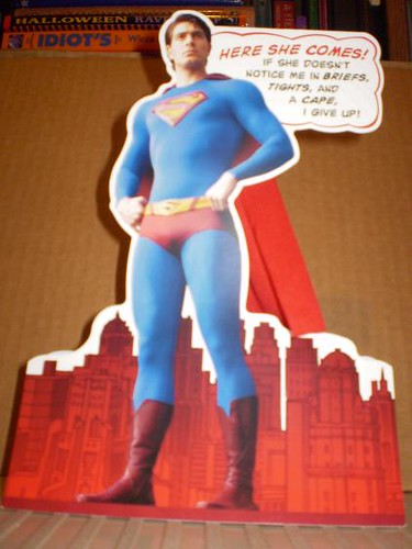 Front of Superman Returns Valentine Card 2008