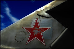 MIG-15 Tail Fin (crowt59) Tags: blue sky texas tail jet 17 fin mig forney excapture crowt59 clevercreativecaptures