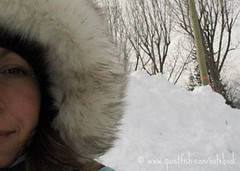 self-portrait in snow