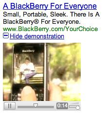 Google adwords video ad capture