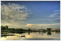 Wishing for a beautiful day (Dashuki Mohd) Tags: park morning trees sky reflection nature clouds landscape lights malaysia hdr selangor cokinfilter kepong blueribbonwinner flickrsbest tamron1750mm canon400d gradnd8 awe2020 lensafarisian