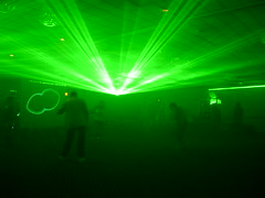 Lasers at the rave