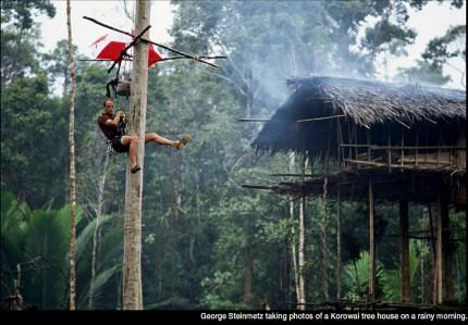 28 imágenes sorprendentes de un pueblo que aún vive en los árboles | Tree People por George Steinmetz ceslava 24