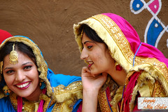 Smiles (~FreeBirD~) Tags: ladies people sexy colors beauty asian eyes nikon focus faces vibrant candid smooth young smiles vivid folklore sharp jewellery indians tradition punjab freebird apna gidda patiala hassi chunni lovemax manibabbar jatti maniya traditionaloutfits httpbirdofpreyspaceslivecom httplamenblogspotcom