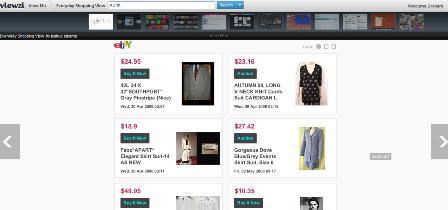 Viewzi shopping search