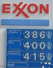 Exxon prices