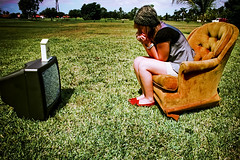 Brainwashed (Ally Newbold) Tags: city portrait selfportrait clock robert home me grass television thanks contrast self allison outside photography tv chair florida palm explore killa meh