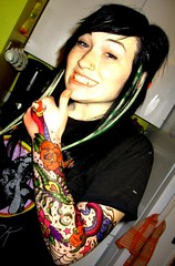gypsy and artwork (smellyrachally_2007) Tags: roses hearts stars tattoos scorpion brightcolors gypsy extensions