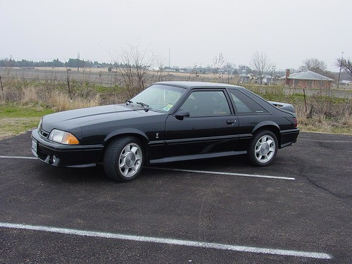 Black 1993 Ford Mustang Cobra With Silver Cobra Wheels A Photo On