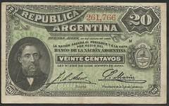Argentina - P 229 (1) 20 centavos (1895) (NoeCR) Tags: serie1895segundaedición argentina banknotes repúblicaargentina suramérica bartolomémitre bradburywilkinsonandcompany papelmoneda notafilia worldpapermoney