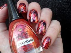 Realce - É Amor Demais + Jade - Joy + JQ-L01 (Barbara Nichols (Babi)) Tags: jade realce joy laranja orange orangenailpolish nailart fogo fire