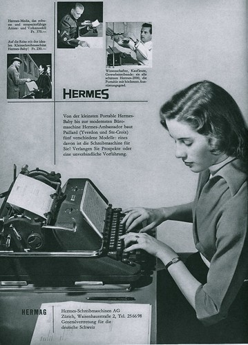 Du 1953-04 Hermes typewriters