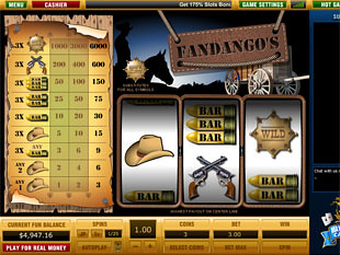 Fandango's 3 Line slot game online review