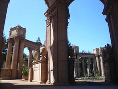 Palace of Fine Arts (jericl cat) Tags: sanfrancisco park sculpture art architecture columns palace historic relief walkway dome column rotunda bas worldsfair palaceoffineart collonade remnant