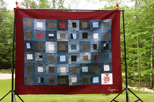 Recycled Denim Memory Quilt, custom memory quilt