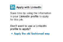 Solliciteren met LinkedIn-button