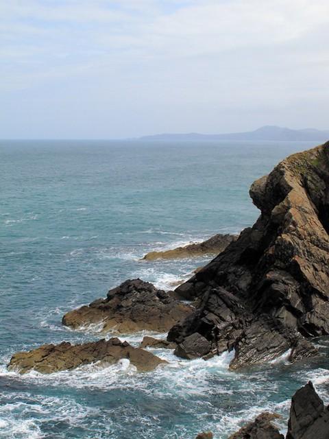 mer sur les rochers