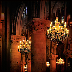 the mystic hour... Light  for Aurelia (fifich@t - (sick) 2016 = Annus Horribilis) Tags: light paris france architecture candles symbol stainedglass chandelier happybirthday vault notredamedeparis ledelacit artgothique nikond300 nikkor1685vr magicunicorntheverybest magicunicornmasterpieces fifichat1 frs fificht frs featuredfpwinners