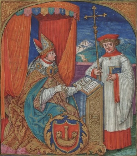 Polish illuminated manuscript detail