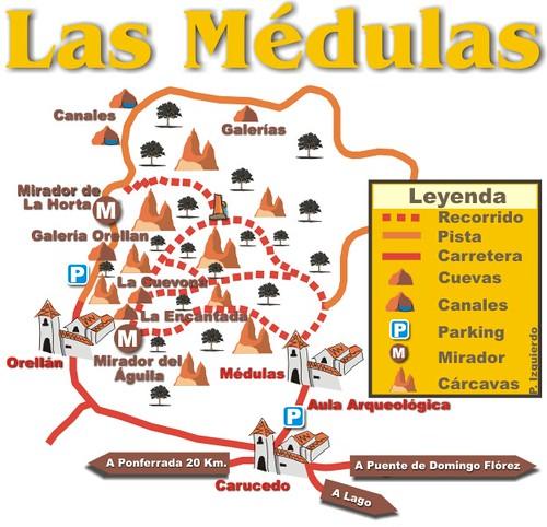 mapa Médulas