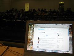 Twittering before speaking