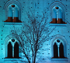 Pavia - A night in blue (danieleb80) Tags: blue windows castle night blu castello lombardia notte pavia blueribbonwinner padania passionphotography colourartaward