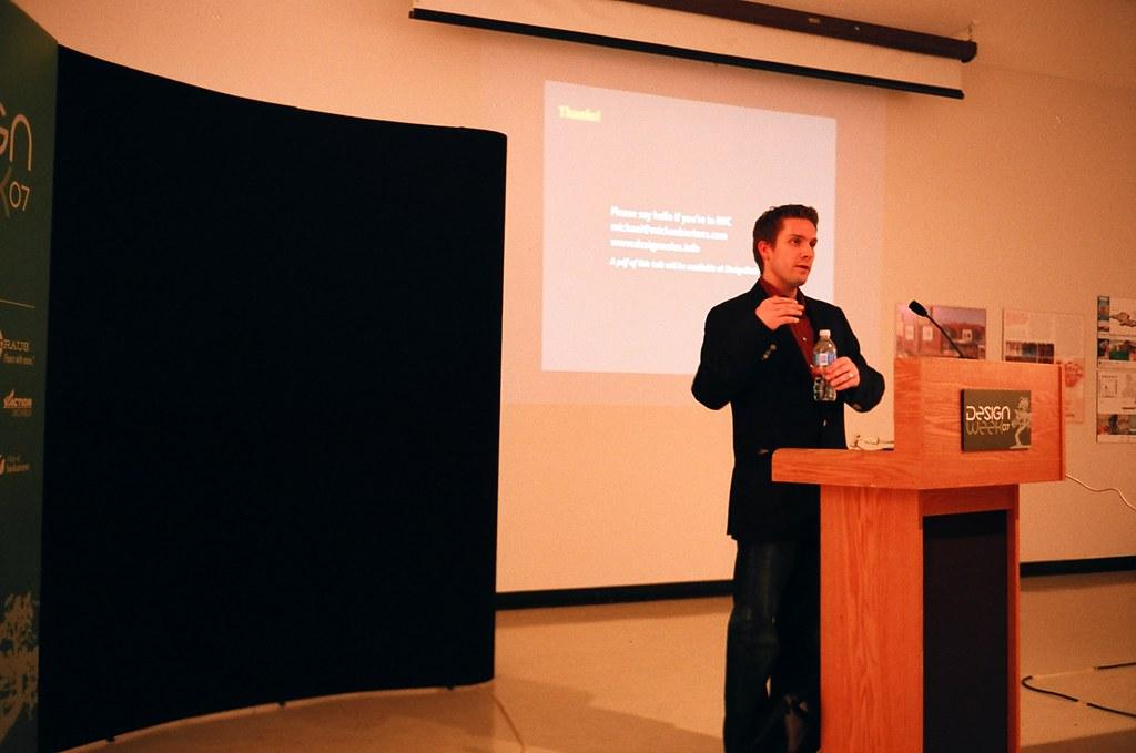Michael Surtees Talking at Saskatchewan Design Week
