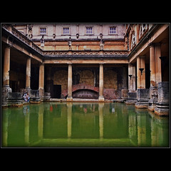 Memories (Katarina 2353) Tags: world city uk greatbritain england people house man hot reflection building green history film water pool museum buildings reflections photography spring ancient nikon bath europe flickr cityscape image roman unitedkingdom britain antique great pillar late british complex katarina heated bathhouse romanbath termal orgies katarinastefanovic katarina2353 gettylicence