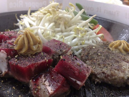 Cube Steak & Hanbaagu
