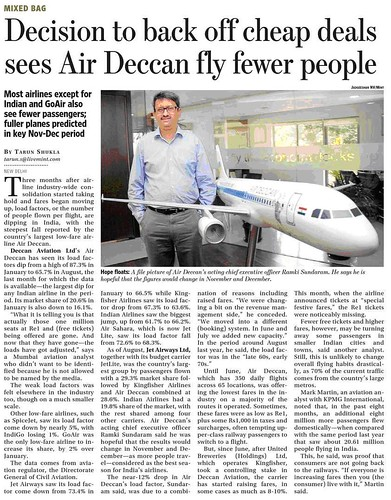 Air Deccan's change in strategy