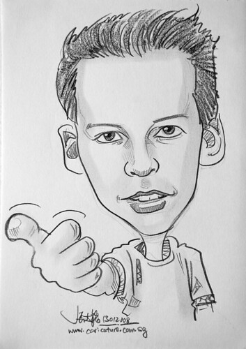 Caricature pencil Norway 14a