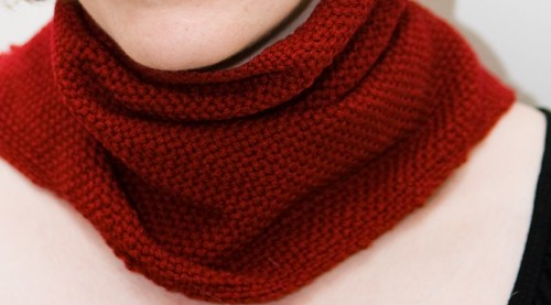 Red Neckwarmer Detail