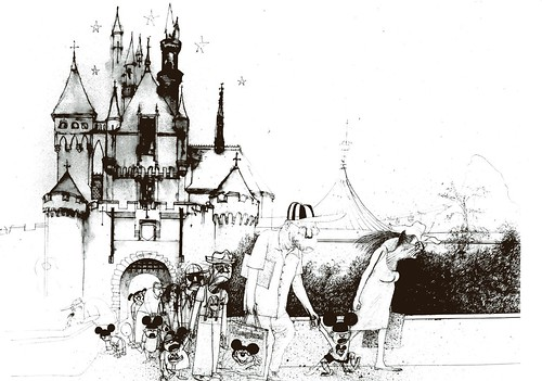 Disneyland via Ralph Steadman