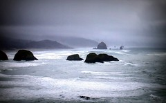 Stormy Waters (p medved) Tags: beach nature oregon coast pacific northwest pacificocean ecola cannnonbeach