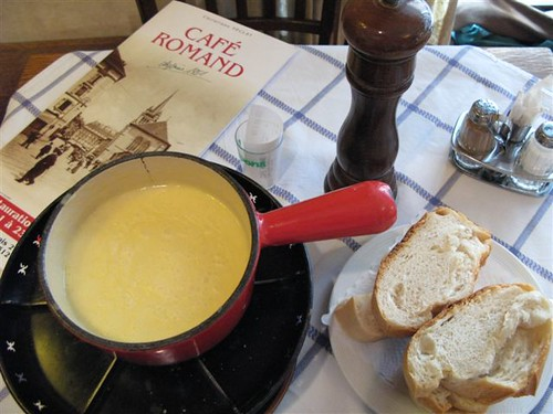 fondue at Café Romand