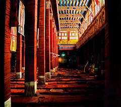 Drepung monastery, monks sleeping quarters (Katarina 2353) Tags: china light red house building film home architecture photography bedroom nikon asia flickr image religion monk tibet explore monastery lhasa himalayas lasa sleepingroom katarinastefanovic katarina2353