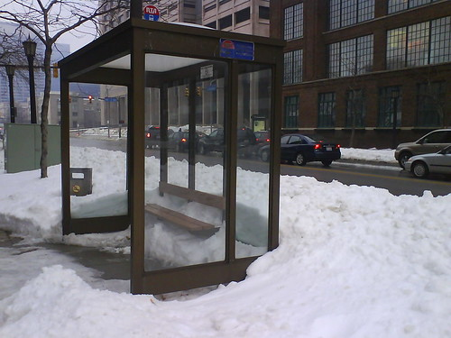 Bus Stop Snowed In