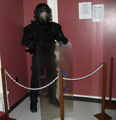 riot police gear (haven't the slightest) Tags: ontario canada history riot bars escape lock military guard cell kingston prison crime weapon jail torture shackles punishment cuffs capitalpunishment prisoner inmate rmc jailhouse penitentiary confinement royalmilitarycollege federalprison prisoncell prisonguard