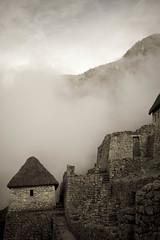 Aged photo of Machu Picchu