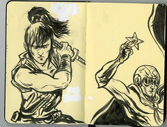 Moleskine (aziritt) Tags: moleskine illustration ink comics sketch brush centella alexisziritt ninjakamui