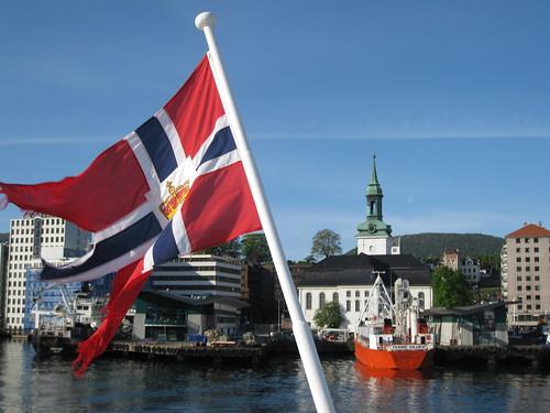 Boats inn Bergen harbour