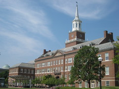 McMicken Hall with Steeple (puroticorico) Tags: city ohio history college architecture modern river campus hall student education university cincinnati steeple architect universityofcincinnati academics micmicken